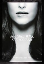 FIFTY 50 SHADES OF GREY * CineMasterpieces ORIGINAL MOVIE POSTER DS GRAY 2015