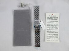 NEW Michele 20mm 5 Link Silver Watch Band Bracelet MS20FW235009 - Deco XL Urban
