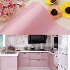 Gloss Pink Kitchen Cupboard Door Cover Self Adhesive Vinyl Wall Sticker Mural