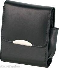 Portasigarette Pelle nera/Tasca accendino/Chiusura magnetica/grande scatola