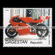 ★ CAGIVA V 594 ★ DAGESTAN Timbre Moto Collection  Motorcycle Stamp #267