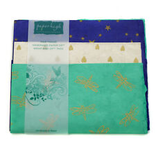 Fair Trade Lokta Paper Three Sheet Gift Wrap Pack GWP37