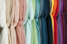 24 Colors:Crinkle Georgette silk fabric,solid,thin,sheer,sew for dress,yardage