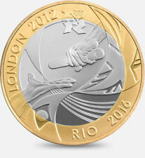 2012 £2 OLYMPIC HANDOVER LONDON 2012 RIO TWO POUND ** UNCIRCULATED ** RARE 2 @