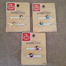 6 Vintage 80s Ballet Ballerina Tutu Barrettes by Goody Unused Stay Tight 3 Packs