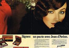 PUBLICITE ADVERTISING 055  1979  JEAN D'AVEZE maquillage mystèrieux ( 2 pages)