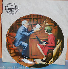 """""""The Professor"""" 1986 """"Heritage Series"""" Collectors Plate by Norman Rockwell"""