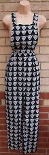 LAVISH ALICE BLACK WHITE LEOPARD FACE PRINT DUNGAREES JUMPSUIT ALL IN ONE 8 S