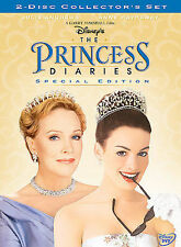 THE PRINCESS DIARIES DVD SPECIAL EDITION 2 DISC SET WALT DISNEY JULIE ANDREWS