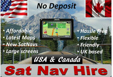 SAT NAV HIRE USA + CANADA rental - Up to 2 Weeks - Latest Maps - Large screens