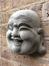 Beautiful Large Happy Buddhas Face Wall Plaque . 3 Kg From The Designer Sius.