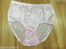 VINTAGE PANTIES NYLON PINK  LACE LINGERIES KNICKERS SHEER BRIEFS SISSY SIZE XL