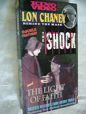 a THE SHOCK & THE LIGHT OF FAITH LON CHANEY PAL VHS SMALL BOX