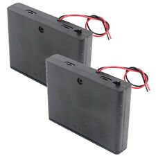 (2 PCS) 6 x AA R6 Battery Clip Holder Case Box 7.2V 9V +Cover+ON/OFF Switch