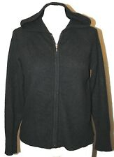 APT.9 HOODED SWEATER CASHMERE HOODIE COVER UP Cardigan BLACK L