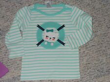 """NWT - Gymboree """"Cape Cod Cutie"""" long sleeved ivory & mint green top - 12-18 mos"""
