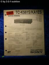 Sony Service Manual TC K561S / KA1ES Cassette Deck  (#1827)