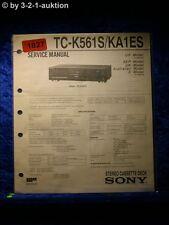 Sony Service Manual TC K561S / KA1ES Cassette Deck  (#1827)