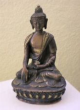 "Slightly Old Bronze Shakyamuni Buddha Statue for Dharma in Nepal, Tibet 6"" High"
