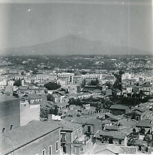 CATANE c. 1950 -  Vue sur la Ville  L'Etna Sicile Italie DIV 4979