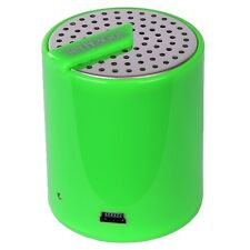 Tech & Go Splash Mini Rechargeable Portable Speaker w/3.5mm Auxiliary Port-Green