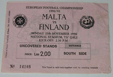 "Ticket for collectors EURO q * Malta - Finland 1990 in Ta""qali"