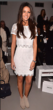 LIPSY MICHELLE KEEGAN Bianco due Pezzi Co Ord Gonna in pizzo Top Taglia 8 Dress Party