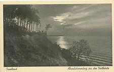 AK Samland, Ostpreussen, Abendstimmung an der Steilküste, 1940 (N)1498