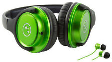 Able Planet Musicians' Choice Headphones + Bonus Sound Isolation Earbuds (GREEN)