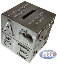 ABC Money Box, Silver Plated, FREE Engraving, Boy/Girl Christening/wedding gift