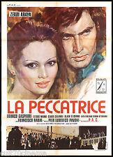 LA PECCATRICE MANIFESTO CINEMA FILM PAVONI ZEUDI ARAYA ITA 1975 MOVIE POSTER 2F