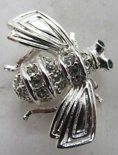 RARE Joan Rivers Sterling Silver 925 and Crystal Swarovski Bee Pin