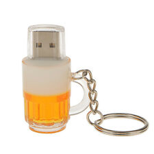 Beer Mug High Speed USB 2.0 Flash Pen Drive Memory Disk with Key Chain 16GB