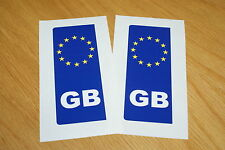 GB Euro Number Plate Stickers (pair)