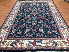 Green Garden - English Floral Design Rug - Oriental Indian Carpet - 5.11 x 9.7