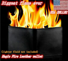 Magic Trick Fire Flaming Wallet Leather Street Show Close up Magic Pros-See Demo