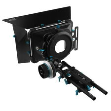 FOTGA DP500IIS A/B Stop Follow Focus+DP3000 Matte Box M2+15mm Rod Rail Baseplate