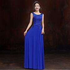 2016 Blue Long Chiffon Bridesmaid Evening Formal Party Ball Gown Prom Dress