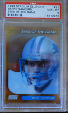 1999 Stadium Club Chrome Barry Sanders Detroit Lions Eyes of the Game #22 PSA 8