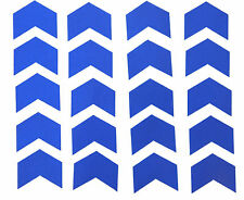 "Reflective Blue Chevrons Vinyl Stickers 2"" wide x 20"