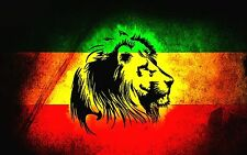 "2.5x3.5"" Roots Reggae LION OF ZION sticker / decal Jah Marijuana Bob Marley 420"