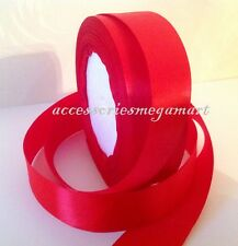5m Satin Ribbon 25mm wide Most demanding Party wedding decor Red Color