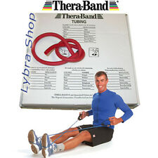TheraBand TUBO ELASTICO ROSSO resistenza media 2,5Mt pilates palestra Thera-Band