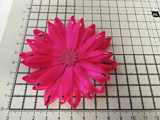 UK-Large,Hot Pink - Satin Ribbon Flowers- Appliques,Trimmings ,Wedding 90mm x 1