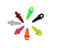 Plastic Bait Screw Elements for Carp Fishing Pop Up Pegs-Choose Colour and Qty