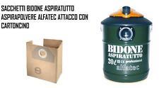 SACCHETTI ASPIRAPOLVERE BIDONE ASPIRATUTTO ALFATEC A53...A57 AD20 A58