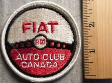 FIAT AUTO CLUB CANADA PATCH (AUTO, SPORT CAR)