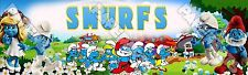 """The Smurfs Poster 30"""" x 8.5"""" Personalized Custom Name Painting Printing"""