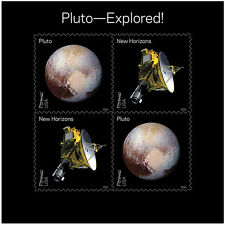 USPS New Pluto - Explored! Souvenir Sheet of 4