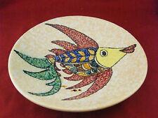 Assiette Murale en Céramique Décor de Poisson Signée Jalou